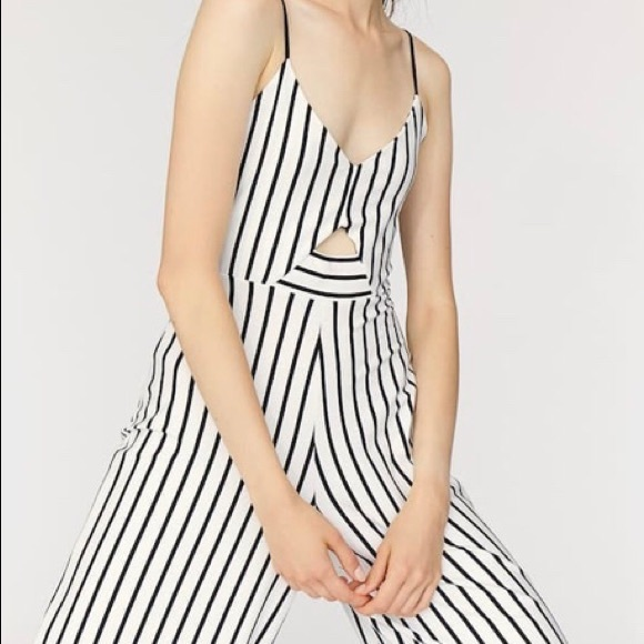 9990af9806c Striped strappy Culotte jumpsuit